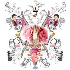 Collage de Unisa- calzado de mujer. Me recuerda mucho a los diseños de Annie