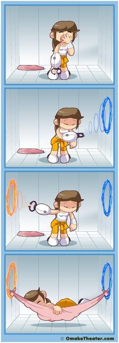 What you would do if you had the portal gun IRL