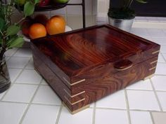 Bubinga box (no clue as to exactly what it is - I just think it's beautiful)