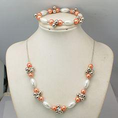 Fashion Glass Pearl Jewelry Sets