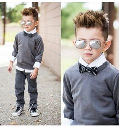 Haircut and clothes are adorable. Picture idea!