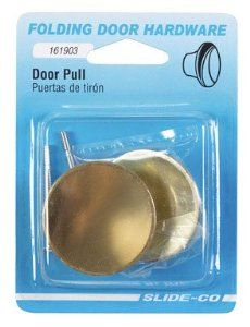 Slide-Co 2Pk Brs Bifold Dr Knob 161903 Closet Door Hardware by Slide-Co. $4.99. 2 Pack, Brass Plated, Bi-Fold Door Knob, For Use On Hollow Core Or Solid Wood Door Panels.