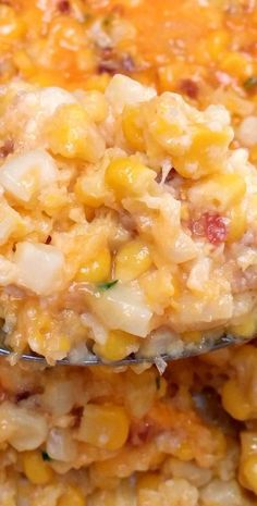 CORN CASSEROLE with CHEESE & BACON  - |  SouthYourMouth.com