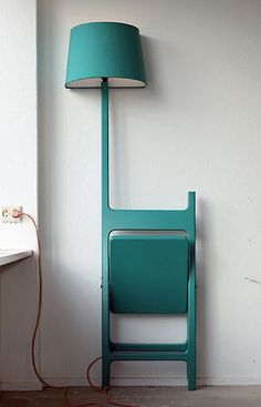 egedesign:  The Poets: Folding Chair + Lamp http://pinterest.com/pin/202310208232831137/