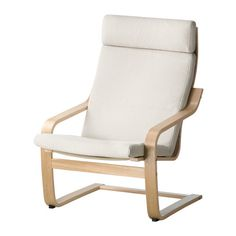 POÄNG Armchair IKEA The cover is easy to keep clean as it is removable and can be machine washed.