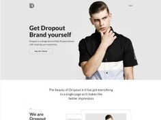 Dropout Web Design Inspiration