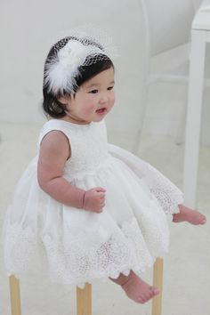 Set i-Baby Christening DressBonnetBloomerShortdress by PetiteJR