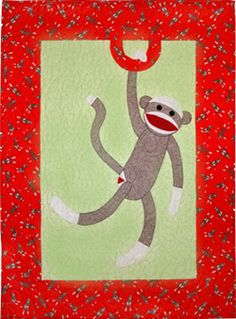 Sock Monkey Baby Quilt pattern