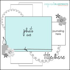 Inspired Blueprints | Sketch 86 #inspiredblueprints #scrapbooking #sketch