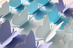 3D Butterfly Wall Art 20 Sky Blue Paper by ThePinkPinwheel on Etsy, $14.00
