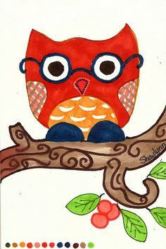 Cutsey owl by Shaylynn for the 30 Day Drawing Challenge