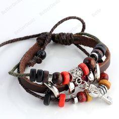 Beaded Key alloy fittings multilayer Bracelet