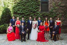 Colorful NYC Wedding,Naeem Khan Dress,Colorful NYC Wedding,Colorful NYC Wedding, Amber Gress Photography, Red, New York City, Modern Wedding, Geometric, The Foundry