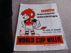 1966 World Cup Willie Seamfree Souvenir Stockings by The House of Tudsbury
