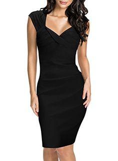 Miusol® Women's Square Neck Fitted Sleeveless Retro Bridesmaid Dress