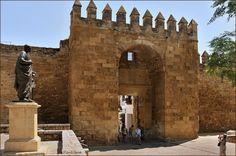 Cordoba Spain, Notre Dame, Wall Canvas, Entrance, 19th Century, Restoration, Statue, Building, Travel
