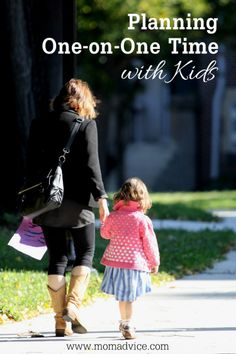Planning One-on-One Time with Kids- great tips for making those dates happen with your kiddos!