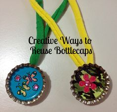 Here are some creative ways to reuse your old bottlecaps #green #craft #sp #scjgreenerchoices