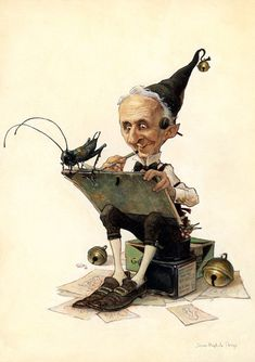 Hommage to Norman Rockwell - Illustration by Jean-Baptiste Monge Norman Rockwell, Fantasy World, Fantasy Art, Kobold, Fantasy Authors, Elves And Fairies, Jean Baptiste, Fairy Art, Magical Creatures