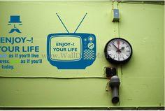 Vintage TV Wall Decals – WallDecalMall.com Modern Wall Decals, Vintage Tv, Clock, Watch, Clocks, The Hours