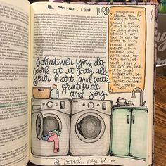 whatever you do bible Bible Study Journal, Scripture Study, Bible Art, Art Journaling, Bible Drawing, Bible Doodling, Bible Prayers, Bible Scriptures, Bujo Inspiration