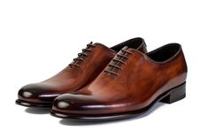 Men Over 50, Touch Of Gray, Single Piece, Leather Interior, Derby, Oxford Shoes, Dress Shoes, Lace Up, Running