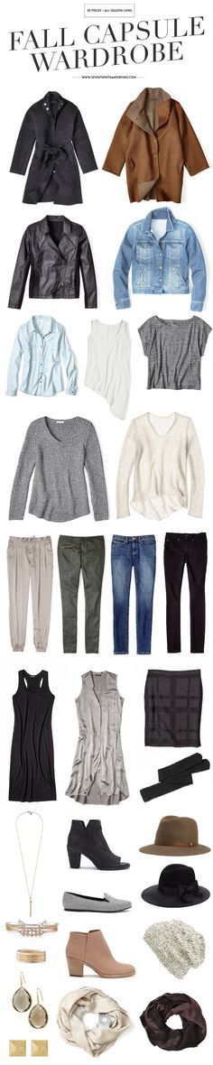 Basics and accessories for an autumn capsule wardrobe