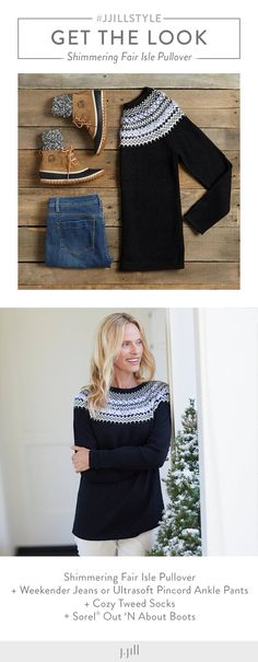 Styling Tips for Fair Isle Print Sweaters | Fair isles, Navy and ...