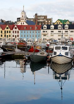 Tórshavn, Faroe Islands (Between the Shetland (North Scotland) & Iceland. Used to do business on the Islands
