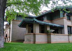 Органическая архитектура: Фрэнк Ллойд Райт (Frank Lloyd Wright): Dana-Thomas House, Springfield, Illinois (Дом Сьюзен и Лоуренс Дейна, Спрингфилд, Иллинойс), 1902—1904