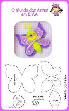 butterfly in fun foam w/patterns