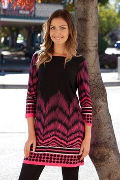 Threadz clothing Good Vibrations Tunic - Womens Tunics at Birdsnest Fashion