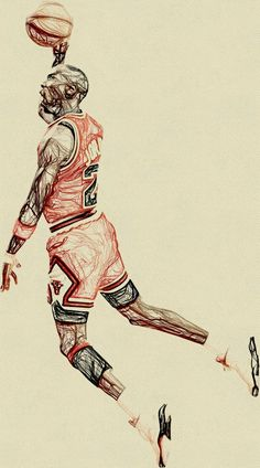 Michael Jordan Dunking, Michael Jordan Art, Michael Jordan Pictures, Michael Jordan Basketball, Basketball Drawings, Basketball Art, Basketball Legends, Basketball Pictures, Basketball Players