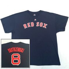 Boston Red Sox Carl Yastrzemski Yaz #8 T-Shirt Mens XL Majestic #Majestic #BostonRedSox