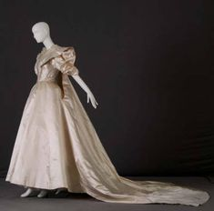 Dress with attached train :: Museum Collection