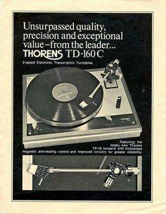 Vintage audio Thorens Ad Turntable Vinyl record player