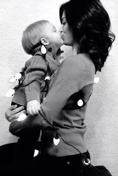 Mother & Son Christmas photo