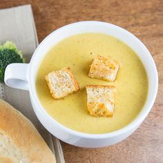 A delicious Broccoli Cheddar Soup recipe that is rich and creamy and filled with vegetables. It's a perfect dinner for a chilly evening.