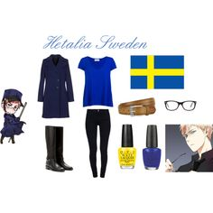 """Hetalia Sweden - Casual Cosplay"" by ak-hamilton on Polyvore"