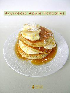 Ayurvedic Organic Apple Pancakes! #delicious