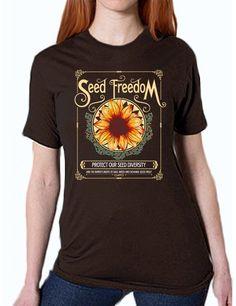 "T-shirt - ""Seed Freedom"" Unisex T-Shirt (Organic Cotton)"