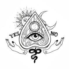 tattoo designs ideas männer männer ideen old school quotes sketches Grunge Tattoo, Indie Tattoos, Ouija Tattoo, Tattoo Sketches, Tattoo Drawings, Drawing Sketches, Sketch Art, Hand Tattoos, Arm Tattoo
