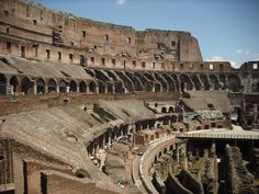 Rome, Italy: another view from inside the Colesseum