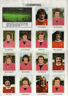 Liverpool stickers for 1972.
