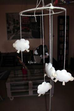 Mini-Bonheur: DIY - Le mobile petits moutons