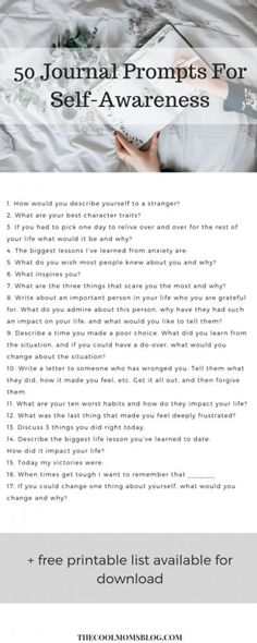 It's Okay To Not Be Okay- Daily Journal Prompts For Emotional Self-Awareness Even the happiest of people have negative thoughts from time to time. These daily journal prompts will help lower your stress and increase your happiness. Daily Journal Prompts, Journal Ideas, Journal Challenge, Journal Quotidien, Journal Questions, Therapy Journal, Mental Health Journal, Come Undone, Coaching