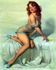 """Gil Elvgren - """"Bedside Manner"""" Darlene 1958 [358]"""