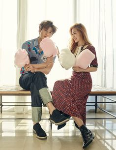 Irene and Sehun for Ceci Korea Feb 2016 #female #male #model