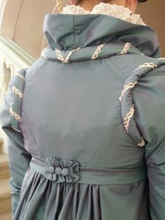 Backside taffeta silk pelisse about  1815 (Replica)   Made by Corina van der Linden  - Crien-oline