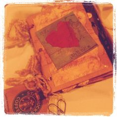 A Scrappy Scrapbook made from lunch bags #valentines Valentine's Day